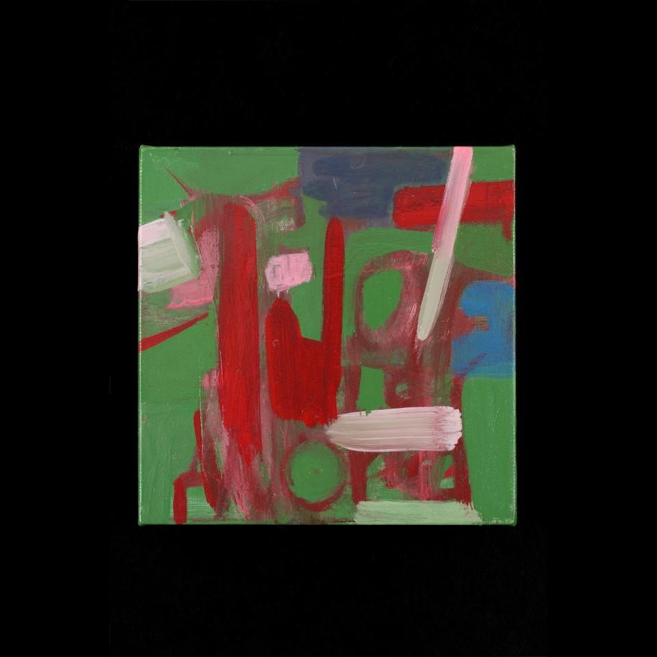 """Darrow's Words P1, Oil paint on canvas, 9"""" x9"""""""